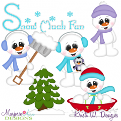 Snow Much Fun Snowmen SVG Cutting Files Includes Clipart