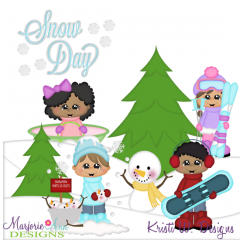 Snow Day SVG Cutting Files Includes Clipart