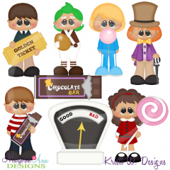 Chocolate Factory SVG Cutting Files Includes Clipart
