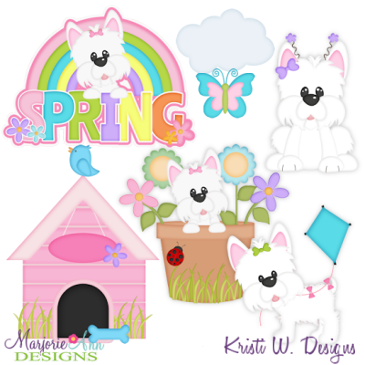 Lilly Loves Spring SVG Cutting Files Includes Clipart