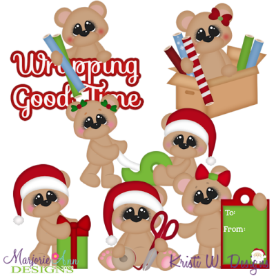 Wrapping Good Times SVG Cutting Files Includes Clipart