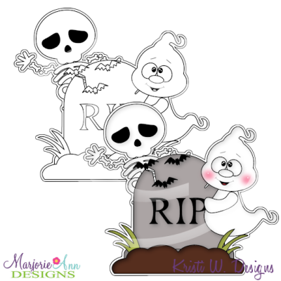 Boo Crew 1 Digital Stamp + Clipart