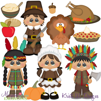 Thanksgiving SVG Cutting Files + Clipart