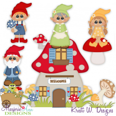 Gnome Sweet Home SVG Cutting Files Includes Clipart