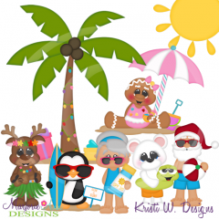 A North Pole Summer SVG Cutting Files Includes Clipart