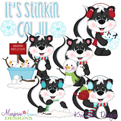 It's Stinkin Cold Exclusive SVG Cutting Files + Clipart