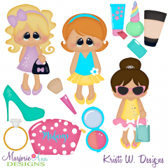 Miss Makeup SVG Cutting Files Includes Clipart