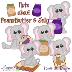 Nuts About Peanut Butter & Jelly SVG Cutting Files+clipart