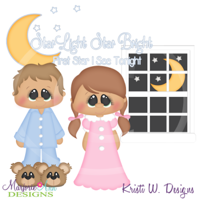 Star Light Star Bright SVG Cutting Files Includes Clipart