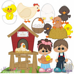The Hen House SVG Cutting Files + Clipart