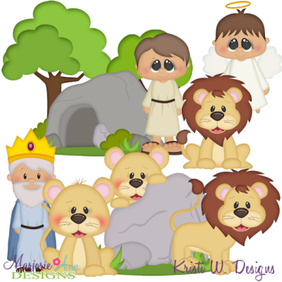 Daniel & The Lions Den SVG Cutting Files + Clipart