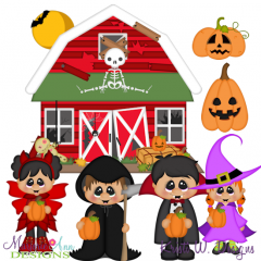 Haunted Pumpkin Patch SVG Cutting Files Includes Clipart
