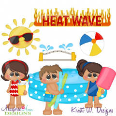 Heatwave Fun SVG Cutting Files Includes Clipart