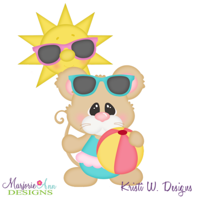 Hit The Beach Cutting Files-Includes Clipart