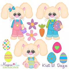 Easter Bunny SVG Cutting Files Includes Clipart