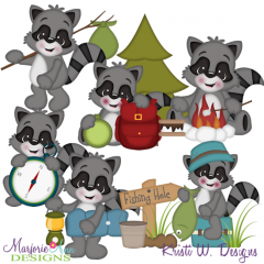 Rascal Roughing It SVG Cutting Files + Clipart