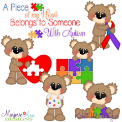 I Love Someone With Autism SVG Cutting Files Includes Clipart