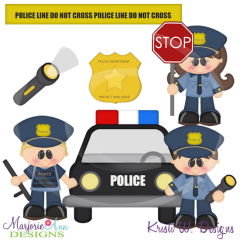 When I Grow Up~Police Cutting Files-Includes Clipart
