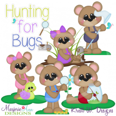 Hunting For Bugs SVG Cutting Files Includes Clipart