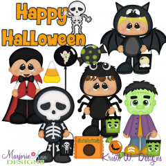 Trick Or Treat Boys SVG Cutting Files + Clipart