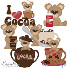 I Love Cocoa Exclusive SVG Cutting Files Includes Clipart
