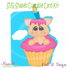 You're Such A Party Animal~Pig~Shaped SVG/MTC Card Kit/Cut File
