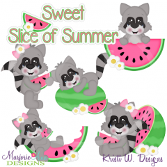 Sweet Slice Of Summer SVG Cutting Files Includes Clipart