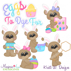 Eggs To Dye For Cutting Files-Includes Clipart