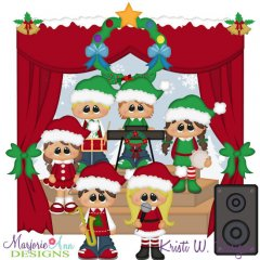 Christmas Concert SVG Cutting Files + Clipart