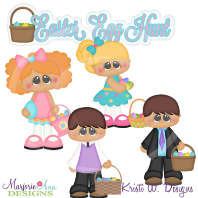 Easter Egg Hunt Cutting Files-Includes Clipart