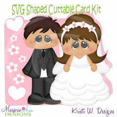I Do~Shaped SVG/MTC Card Kit/Cutting File