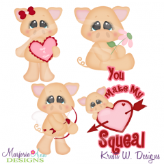 You Make My Heart Squeal Cutting Files-Includes Clipart