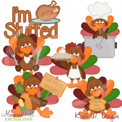 I'm Stuffed SVG Cutting Files Includes Clipart