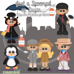 Just A Spoonful Of Sugar SVG Cutting Files Includes Clipart