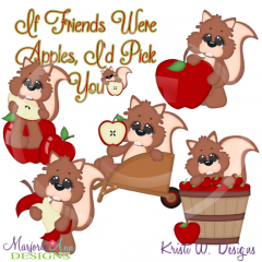 If Friends Were Apples I'd Pick You SVG Cutting Files + Clipart