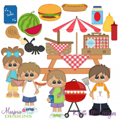Summer BBQ SVG Cutting Files + Clipart