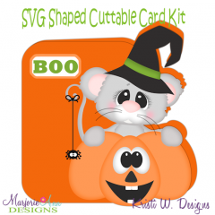 Spooky Squeak~Shaped SVG/MTC Card Kit/Cutting File