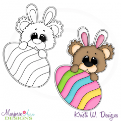 Beary Happy Easter 4 Exclusive Digital Stamp + Clipart