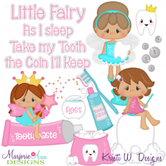 Tooth Fairy SVG Cutting Files Includes Clipart