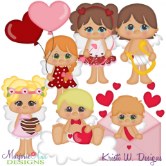 Cupid Kids SVG Cutting Files + Clipart