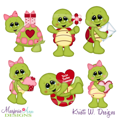 I Turtley Love You Cutting Files Includes Clipart