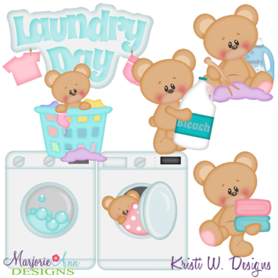 Laundry Day SVG Cutting Files Includes Clipart
