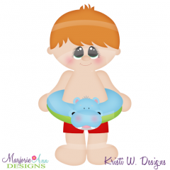 Freddie & His Floatie SVG Cutting Files Includes Clipart