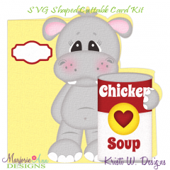 Get Well Wishes~Hippo~Shaped SVG/MTC Card Kit/Cutting File