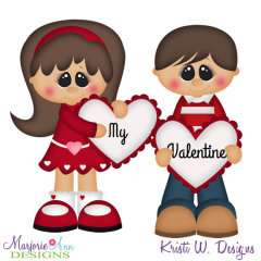 My Valentine SVG Cutting Files + Clipart