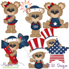 Fuzzy's First 4th Exclusive SVG Cutting Files Includes Clipart