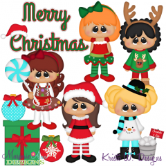 Christmas Cuties SVG Cutting Files + Clipart
