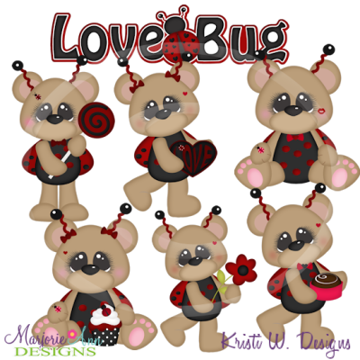 Love Bug Bears Exclusive Cutting Files-Includes Clipart