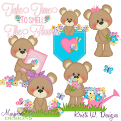 Take Time To Smell The Flowers SVG Cutting Files+Clipart
