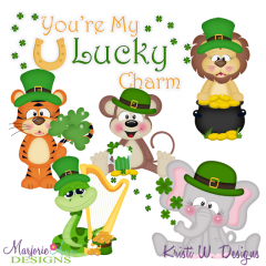 You're My Lucky Charm SVG Cutting Files + Clipart